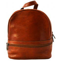 Mini Leather Rucksack/Backpack - Tan