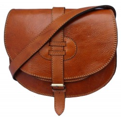 Premium Leather Saddle Bag - Tan, Brown or Black