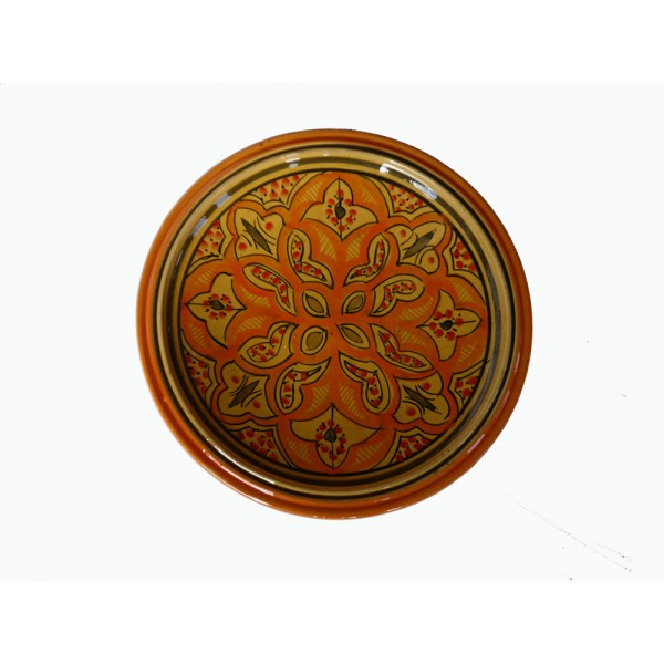 Hand painted orange,yellow, medium plate/dish