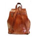 Premium Quality Leather Rucksack - Tan