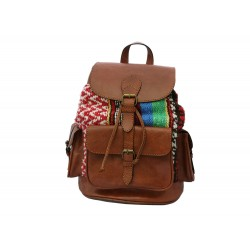 Premium Leather  and Kilim Carpet Rucksack