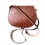 Vintage style, Leather Saddle Handbag - Tan, Black, Brown or Red