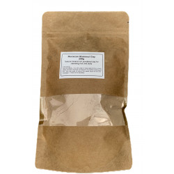 Rhassoul Clay, Hair & Face Mask for Deep Pore Cleansing - 250g - Ultra Pure Moroccan Ghassoul